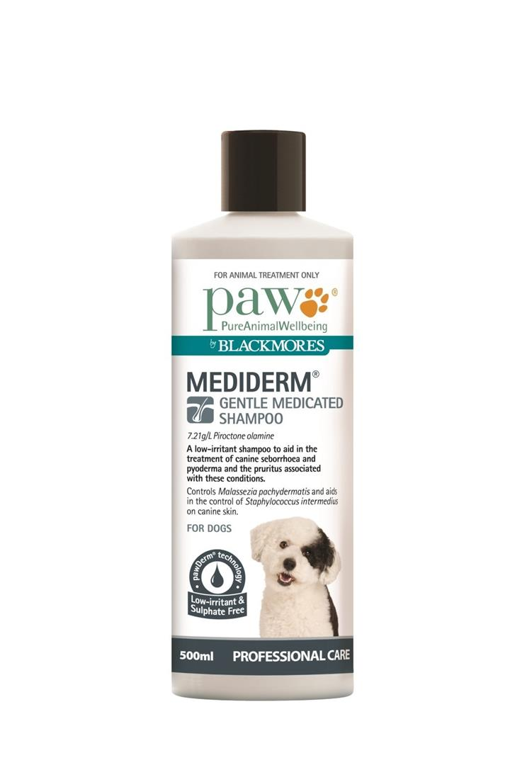 PAW by Blackmores MediDerm Gentle Medicated Shampoo for Dogs - 500ml