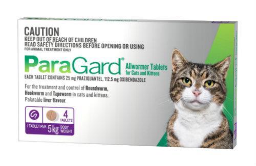 Paragard Allwormer Cat Purple 4 pack