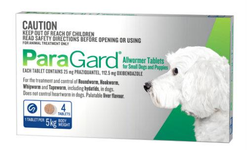 Paragard Allwormer Small Dog up to 5kg Blue 4 pack