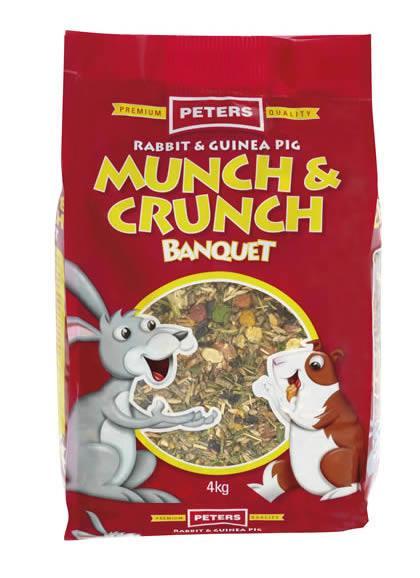 Peters Rabbit & Guinea Pig Munch & Crunch 4kg