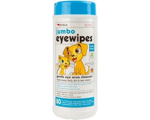 Petkin Jumbo Eye Wipes For Dogs/cats 80 Pack