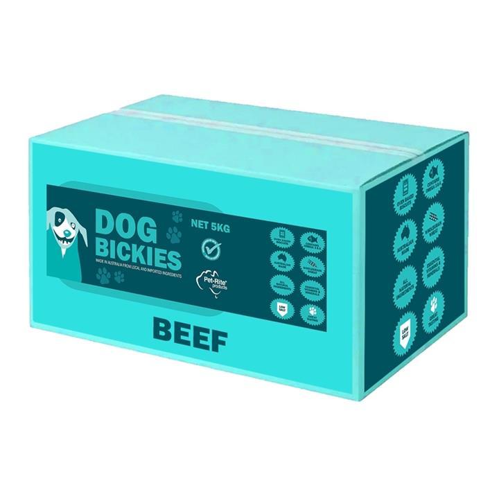 Petrite Australian Beef Bickies Dog Biscuits - 5kg Bulk Box