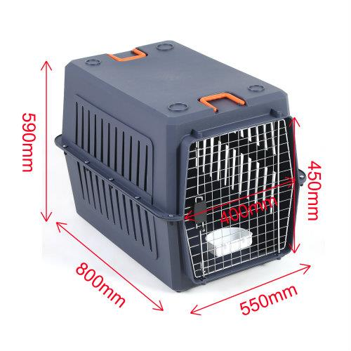 Petset Dog and Cat Pet Carrier Crate Large (Blue)