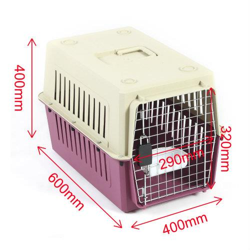 Petset Dog and Cat Pet Carrier Crate Medium (Red)