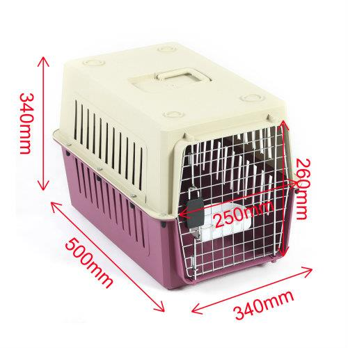 Petset Dog and Cat Pet Carrier Crate Small (Red)