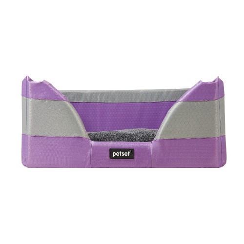 Petset Walled Bed Purple Large