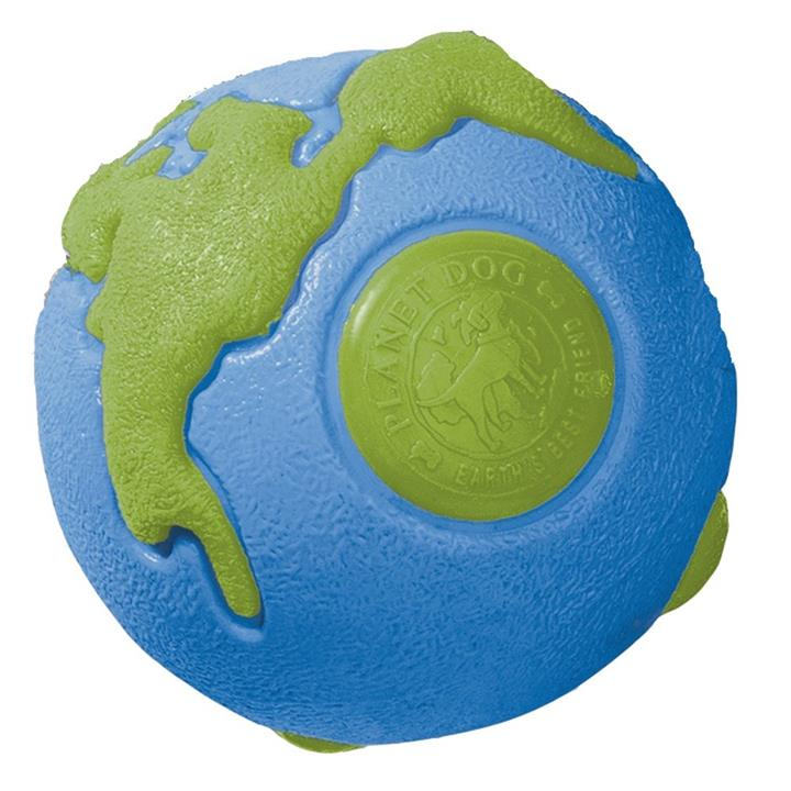 Planet Dog Orbee Ball Tough Floating Dog Toy Blue & Green - Large