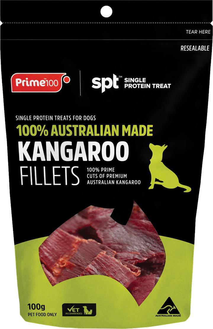 Prime100 SPT Kangaroo Fillet Dog Treats 100g