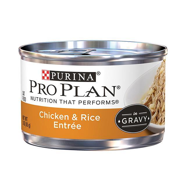 Pro Plan Wet Cat Food Adult Chicken Rice In Gravy 24 X 85g
