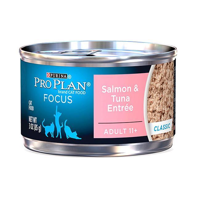 Pro Plan Wet Cat Food Senior 11 Plus Salmon Tuna 24 X 85g