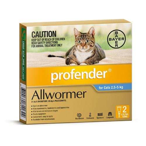 Profender Allwormer Medium Blue 2 pack