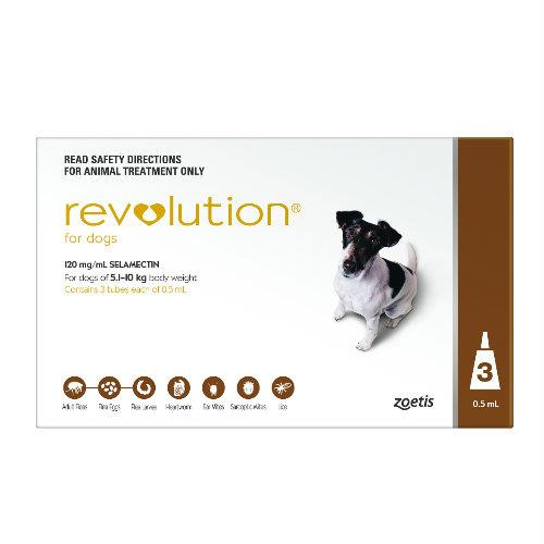 Revolution Brown Small 5.1-10kg 3 pack
