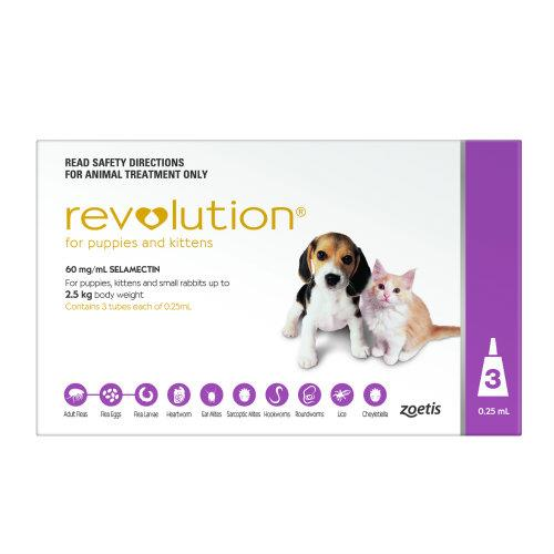 Revolution Mauve/Pink for Puppies and Kittens 3 pack