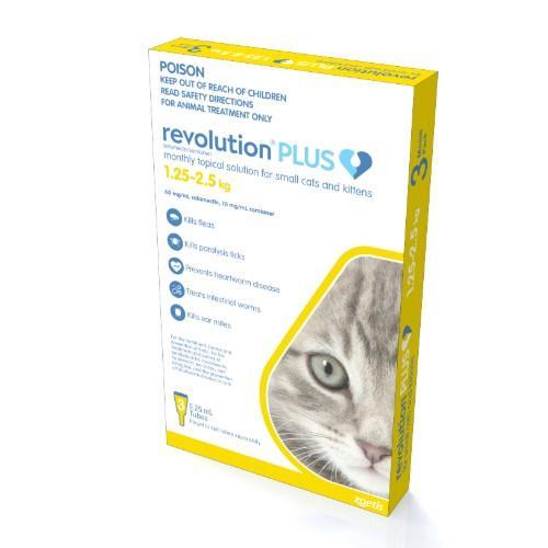 Revolution Plus Kitten and Small Cat 1.25-2.5kg 3 pack