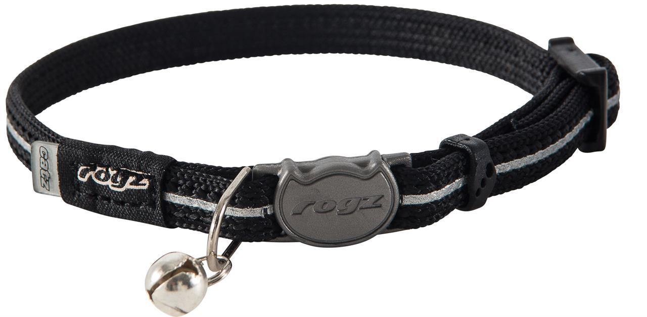 Rogz Alleycat 8mm Kitten Safeloc Collar Black