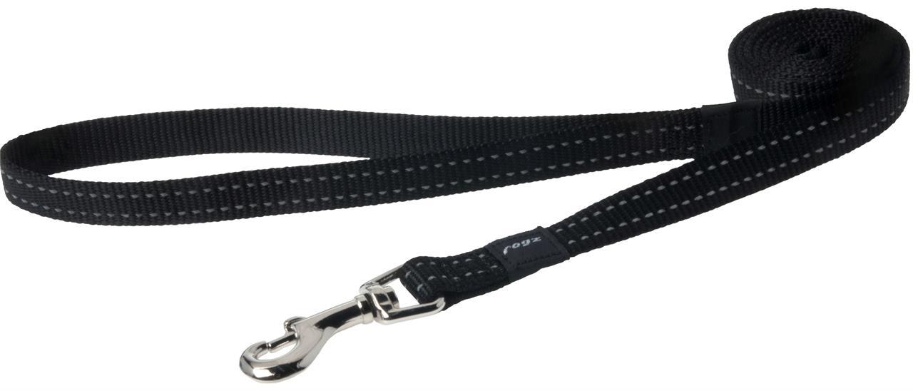 Rogz Utility Snake Medium Dog Lead Black
