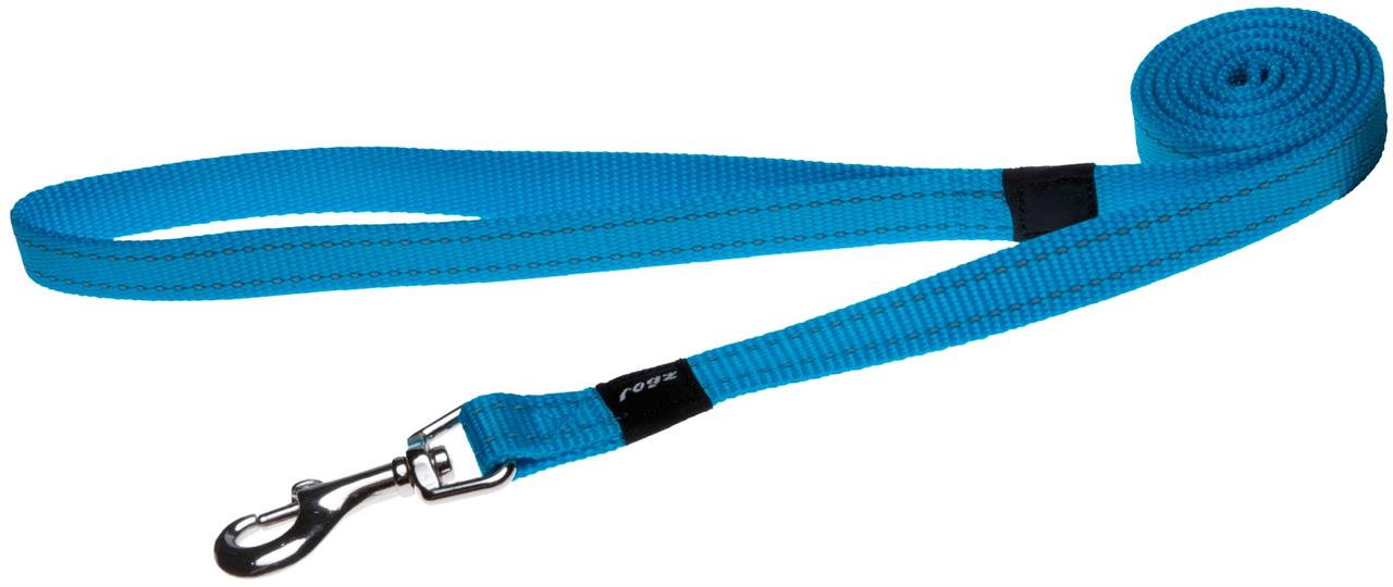 Rogz Utility Snake Medium Dog Lead Turquoise