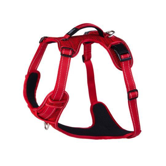 Rogz Utility Snake Medium Explore Dog Harness Red