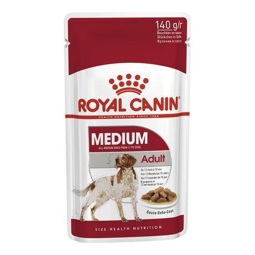 Royal Canin Medium Adult Wet Food Pouches 10x140g