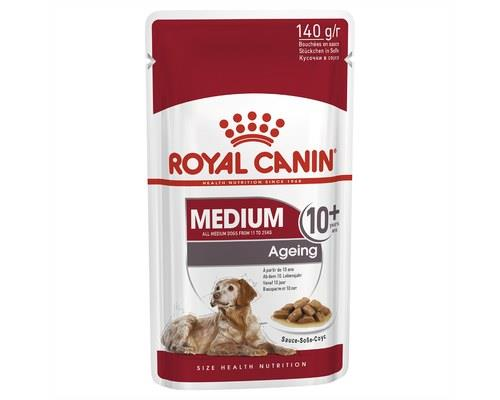 Royal Canin Medium Ageing +10 Wet Food Gravy Pouch 140g