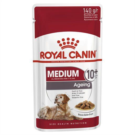Royal Canin Medium Ageing 10+ Wet Food Pouches 10x140g