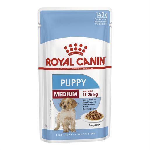 Royal Canin Medium Puppy Wet Food Pouches 10x140g