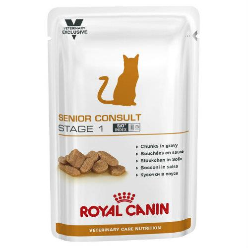 Royal Canin Veterinary Diet Feline Senior Consult Stage 1 Pouches...