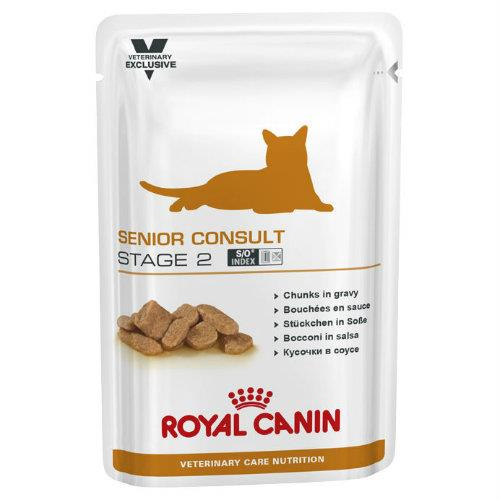 Royal Canin Veterinary Diet Feline Senior Consult Stage 2 Pouches...