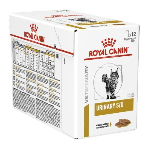 Royal Canin Veterinary Diet Feline Urinary S/O Pouches 12 x 85g