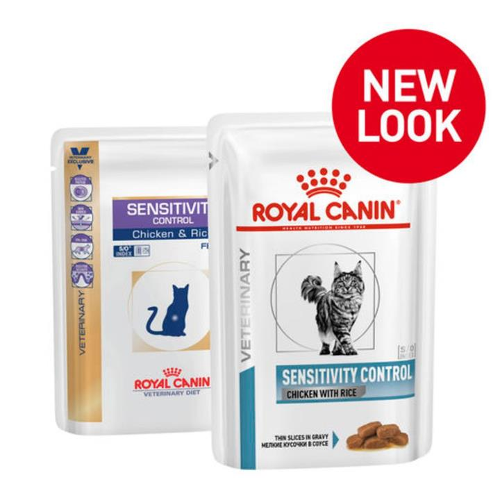 Royal Canin Veterinary Diet Sensitivity Control Chicken & Rice Cat Food 12x85g