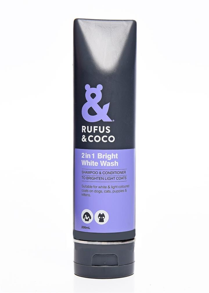 Rufus & Coco 200ml Bright White Wash Shampoo