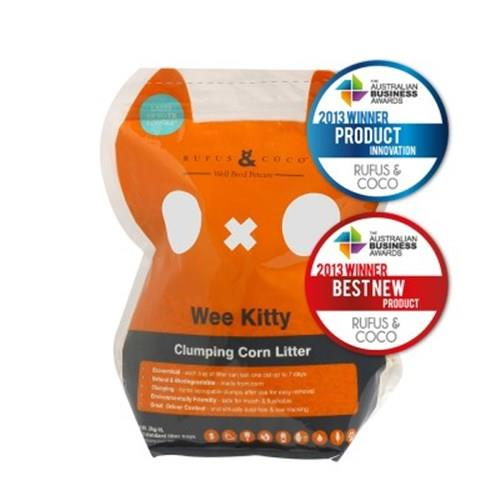 Rufus & Coco Wee Kitty Clumping Corn Cat Litter 2kg/4L