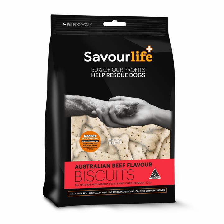 Savour Life Natural Treats Australian Beef Flavour Biscuits 500g