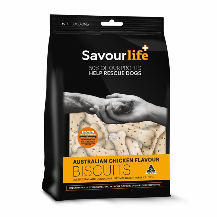 Savour Life Natural Treats Australian Chicken Flavour Biscuits 500g