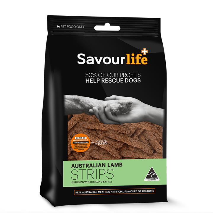 Savour Life Natural Treats Australian Lamb Strips 165g