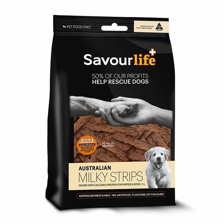 Savour Life Natural Treats Australian Milky Strips 150g