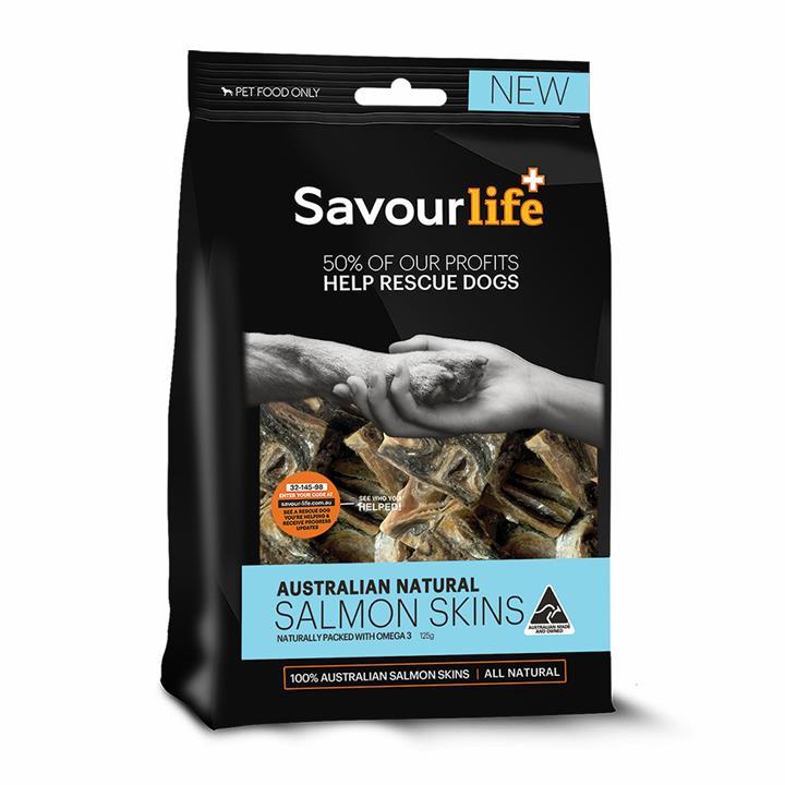 Savour Life Natural Treats Australian Salmon Skins 125g