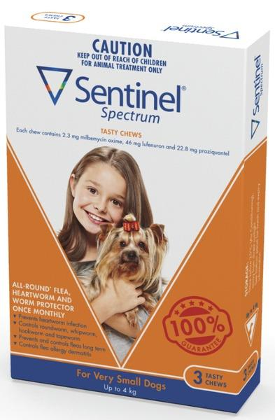 Sentinel Spectrum Chews Very Small Brown 12 pack