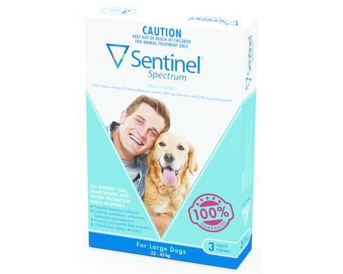 Sentinel Spectrum Large 23-45kg 3 Pack (blue)