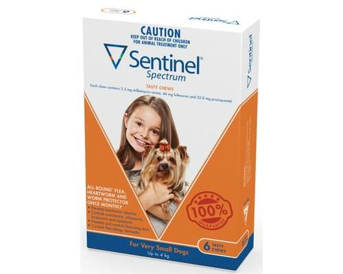 Sentinel Spectrum Xsmall Up To 4kg 6 Pack (brown)