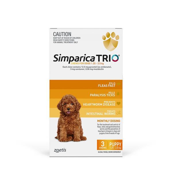 Simparica Trio Puppy 2 X 3 Pack