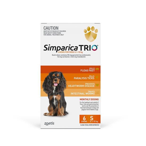 Simparica Trio Small 2 X 6 Pack