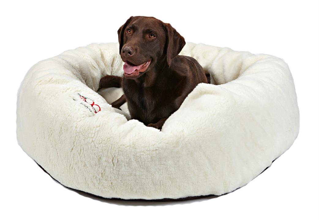 Snooza Calming Cuddler Natural Dog Bed Small