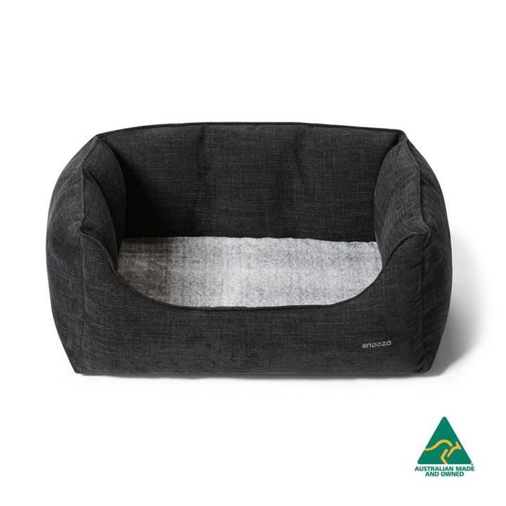 Snooza Ortho Nestler Black Dog Bed Large
