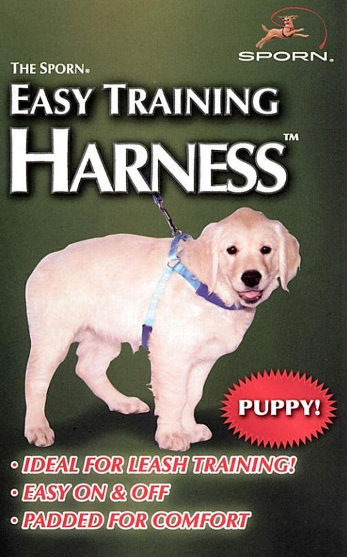 Sporn Puppy Easy Training Harness Blue Large