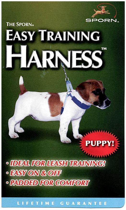 Sporn Puppy Easy Training Harness Blue Small