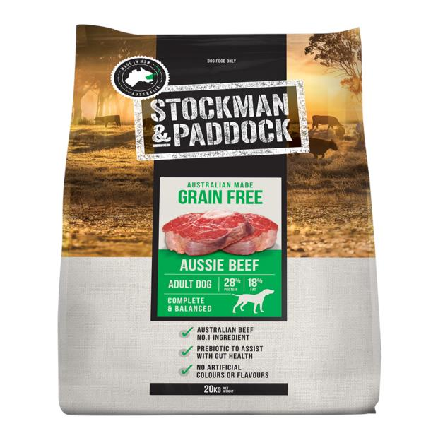 Stockman And Paddock Grain Free Aussie Beef Dry Dog Food 20kg