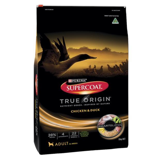 Supercoat True Origin Dry Dog Food Adult Chicken And Duck 7kg