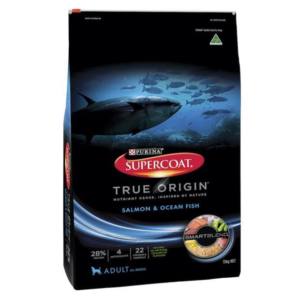 Supercoat True Origin Dry Dog Food Adult Salmon And Ocean Fish 7kg