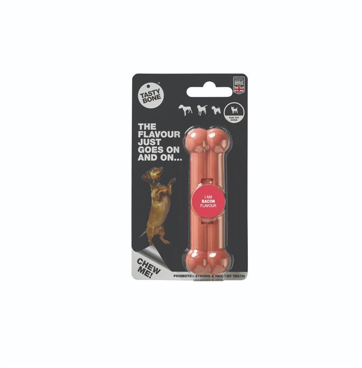 Tasty Bone Nylon Bacon Dog Chew Toy